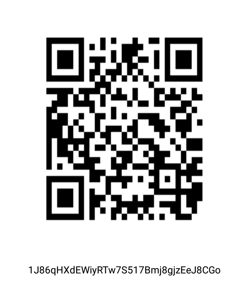 BTC address and QR code