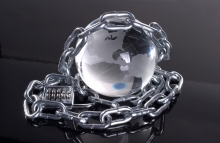 http://www.shutterstock.com/pic-1302948/stock-photo-globe-made-of-glass-with-chains.html