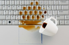 http://www.shutterstock.com/pic-161026343/stock-photo-coffee-spilled-on-keyboard-close-up-shot-damaged-computer-that-needs-reparation-data-safety-and.html