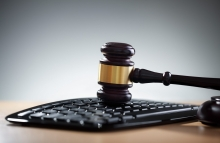 http://www.shutterstock.com/pic-216955009/stock-photo-gavel-on-computer-keyboard-concept-for-online-internet-auction-or-legal-assistance.html
