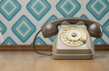 http://www.shutterstock.com/pic-212598148/stock-photo-vintage-gray-telephone-on-hardwood-floor-diamond-light-blue-retro-wallpaper-on-background.html?src=RwQ2awOJQl9sF9H8T8IHig-1-63