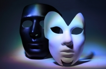http://www.shutterstock.com/pic-103118906/stock-photo-simple-white-serious-mask-and-black-mask-which-is-colorful-highlighted.html?src=JPpi5iQ0usWDXAlXxpQ1Ag-1-16