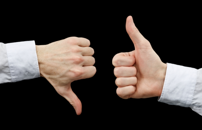http://www.shutterstock.com/pic-124102780/stock-photo-two-hands-showing-different-gestures-thumb-up-and-thumb-down-on-black-background.html?src=pp-photo-28425904-GXjeoZ5mTDJKUYo9A2jVPA-2