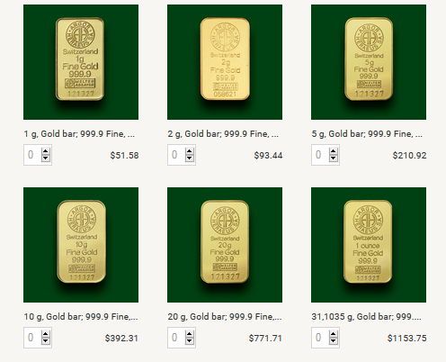 Bitstamp gold bars