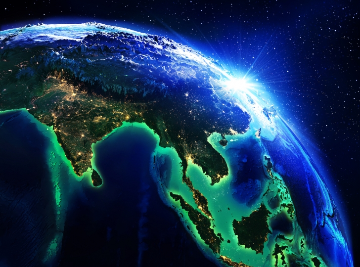 Planet Earth showing Asia