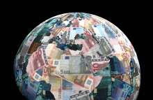 http://www.shutterstock.com/pic-88949071/stock-photo-global-currency-euros-with-negative-effect-illustration.html