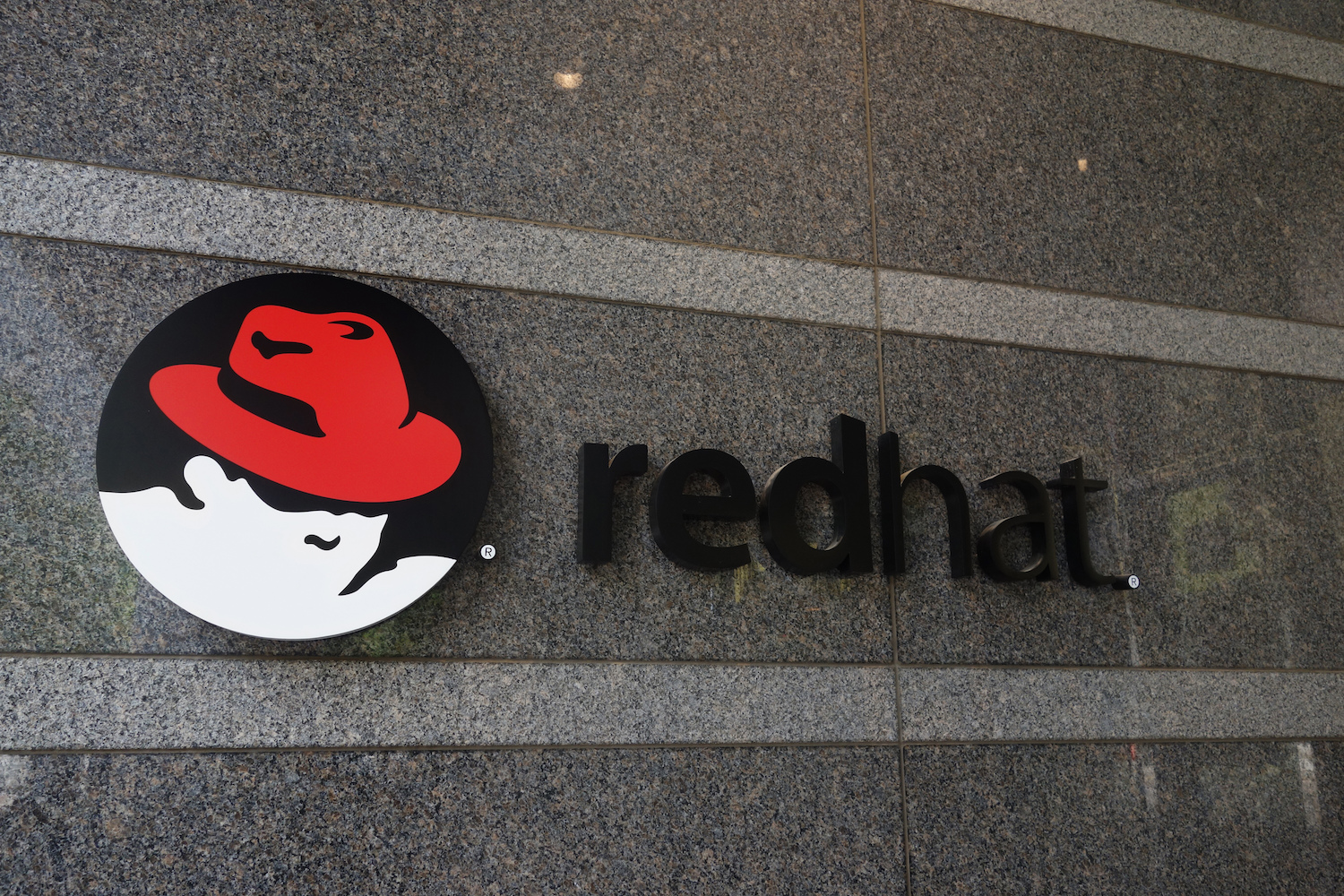 Red Hat building and logo