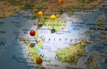 http://www.shutterstock.com/pic-315926135/stock-photo-map-pins-on-map-with-focused-light-and-red-pin-on-kuala-lumpur-city.html