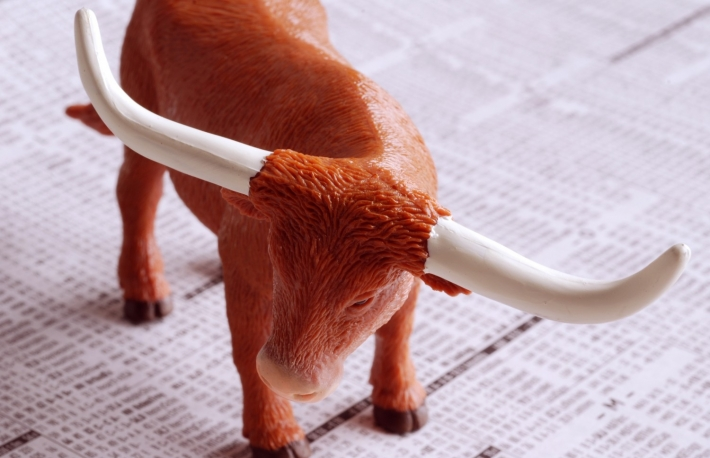 http://www.shutterstock.com/pic-3321927/stock-photo-a-bull-on-a-financial-newspaper.html