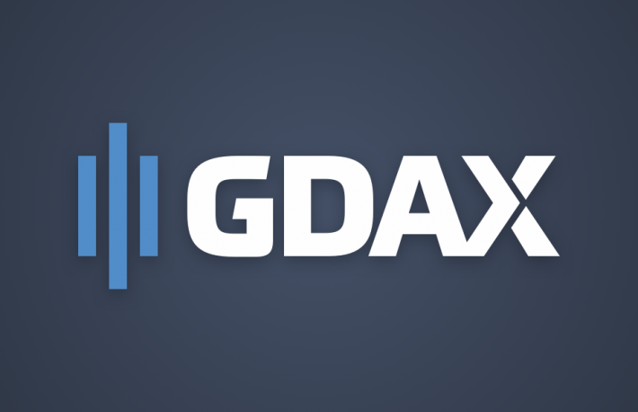 Coinbase Exchange's rebranded logo for GDAX, the Global Digital Asset Exchange