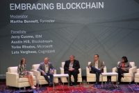 Tech giants on blockchain panel, Consensus 2016
