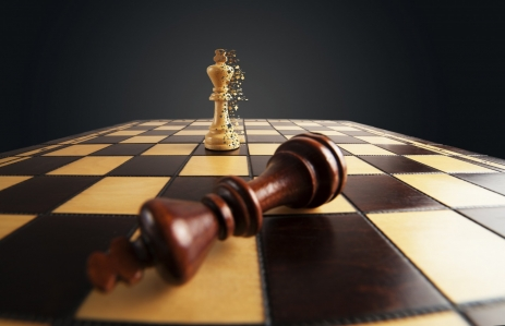 http://www.shutterstock.com/pic-418372450/stock-photo-chess-winner-scatters-the-pixels-and-loser.html
