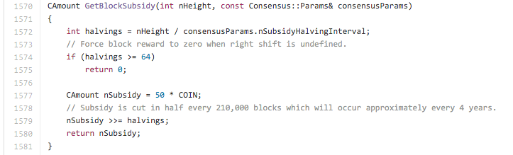 Bitcoin Halving In The Code