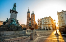 http://www.shutterstock.com/pic-343535819/stock-photo-old-city-center-view-with-adam-mickiewicz-monument-and-st-mary-s-basilica-in-krakow-on-the-morning.html