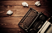 http://www.shutterstock.com/pic-143642815/stock-photo-vintage-typewriter-and-a-blank-sheet-of-paper-retouching-retro.html