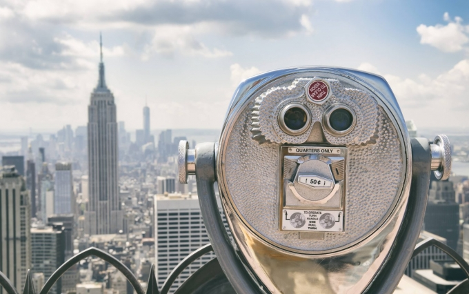 http://www.shutterstock.com/pic-280064555/stock-photo-view-of-midtown-manhattan-new-york-city-with-coin-operated-telescope-on-bright-sunny-day.html