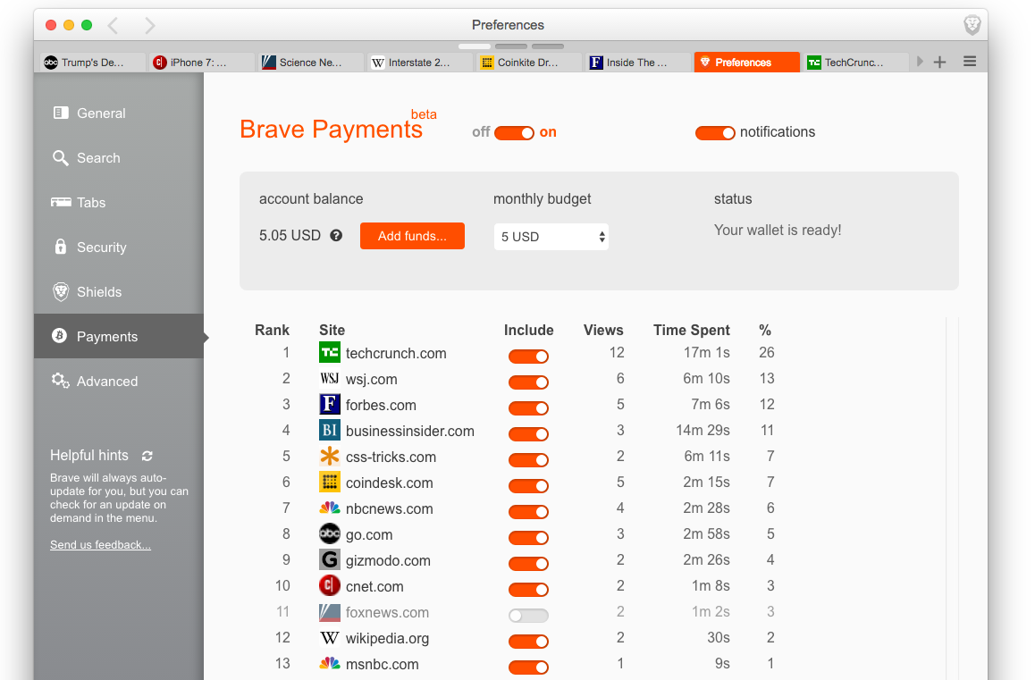 Brave Payments