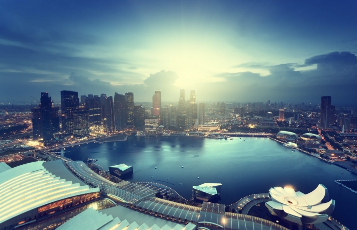 http://www.shutterstock.com/pic-202355773/stock-photo-singapore-city-in-sunset-time.html