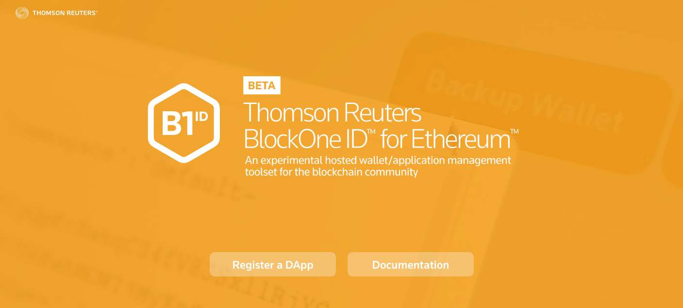 Here's A First Look at <bold>Thomson</bold> <bold>Reuters's</bold> New Ethereum Identity Tools