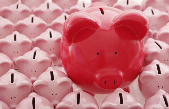 http://www.shutterstock.com/pic-275364620/stock-photo-big-red-piggy-bank-among-lots-of-smaller-ones.html