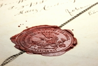 Contract with wax seal