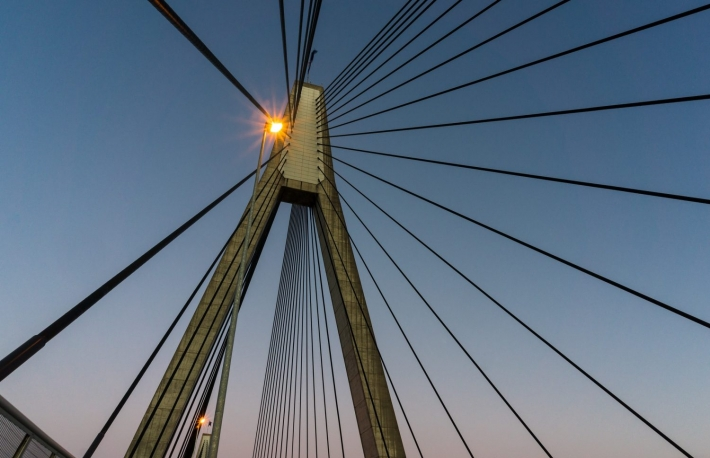 http://www.shutterstock.com/pic-414947242/stock-photo-anzac-bridge-pylon-with-steel-cables-against-sunset-sky-sydney-australia-anzac-bridge-is-the-longest-cable-stayed-bridge-in-australia-and-amongst-the-longest-in-the-world-bottom-up-vi.html