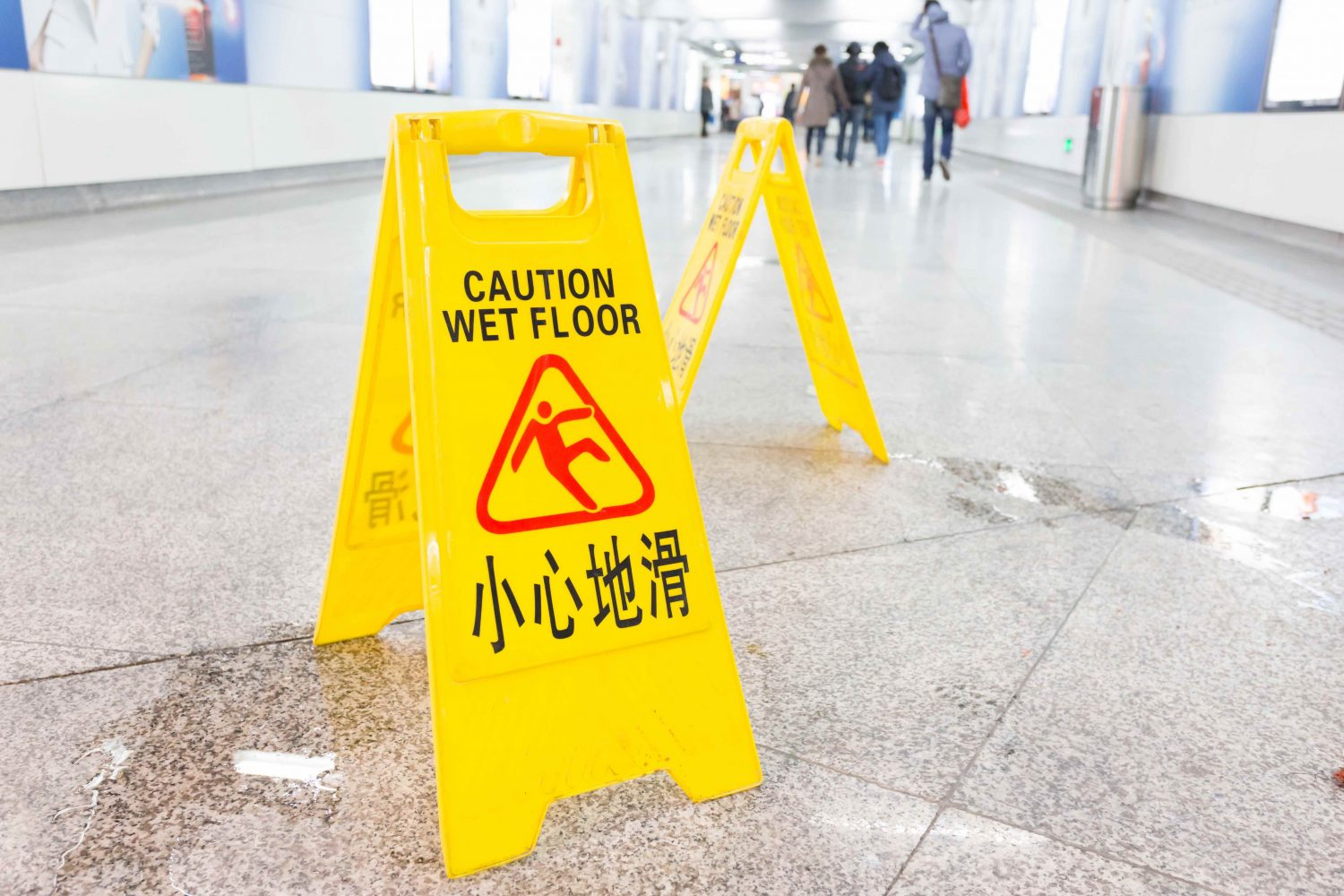caution, wet floor