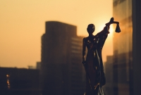 Lady justice, scales