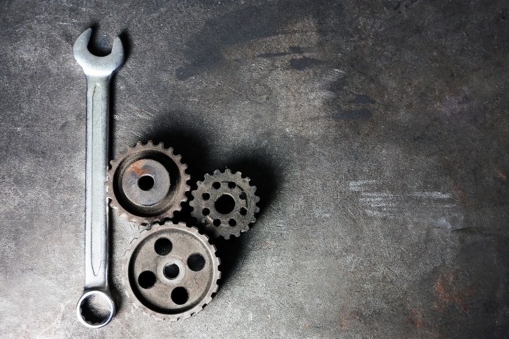 wrench and gears
