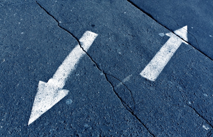 https://www.shutterstock.com/image-photo/two-arrows-on-blue-toned-cracked-593790116