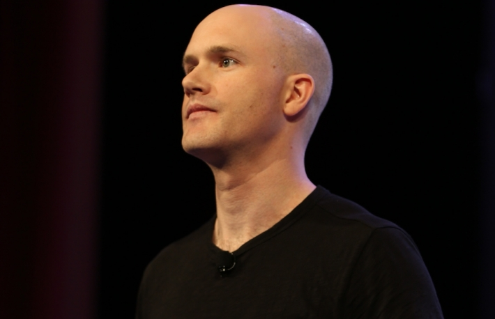 Coinbase CEO Brian Armstrong at Consensus 2016.