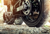 motorcycle, chain