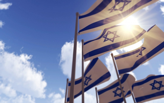 https://www.shutterstock.com/image-illustration/israel-flags-waving-wind-against-blue-626938319?src=alamAgbMoHGCT5qH649vZw-1-9