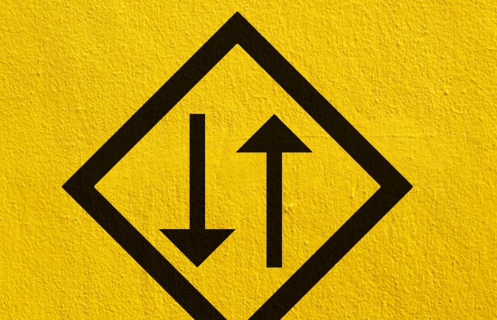 https://www.shutterstock.com/image-photo/black-two-way-arrow-points-painted-191986304