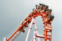 roller coaster, red