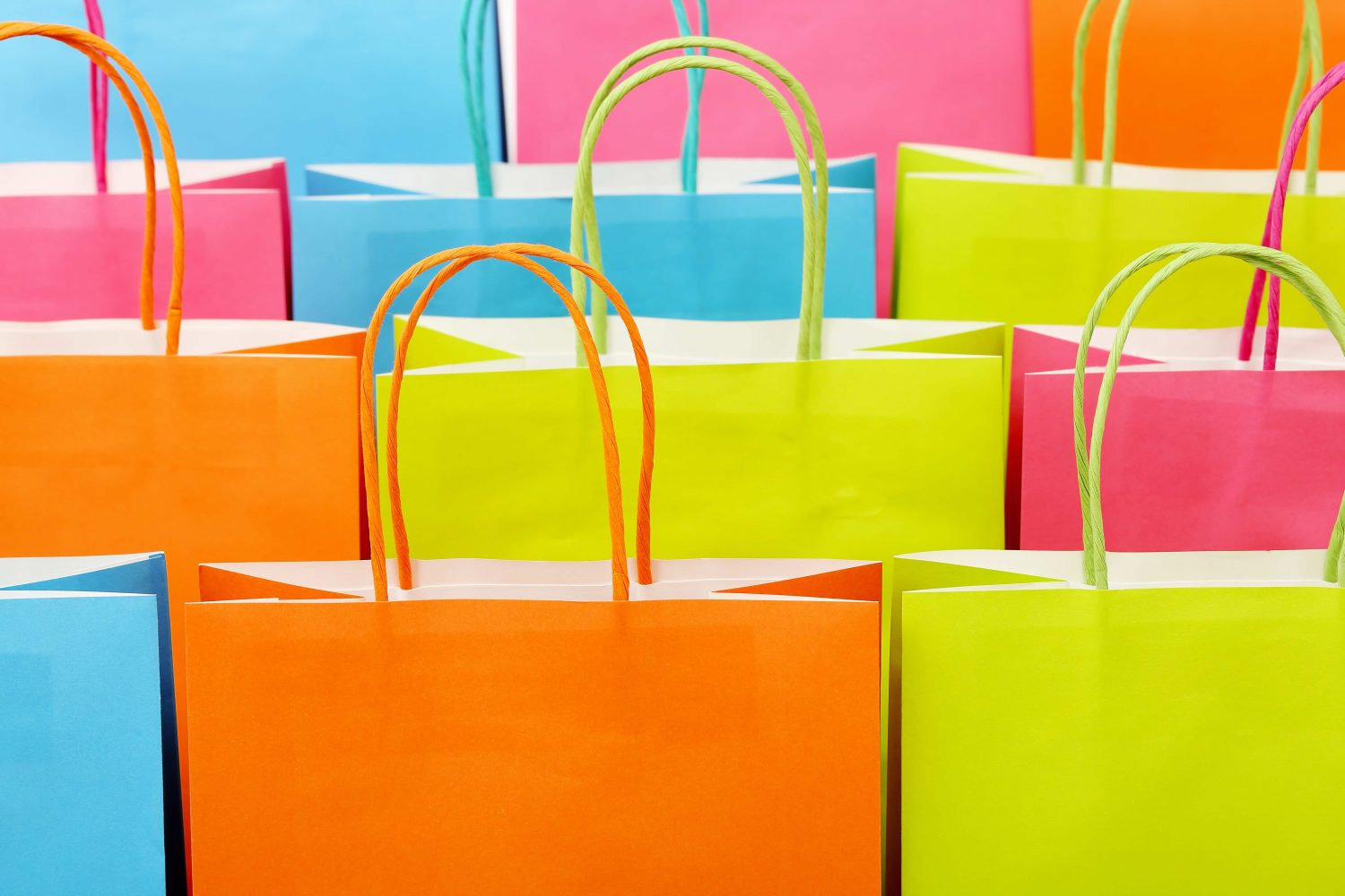bags, colorful
