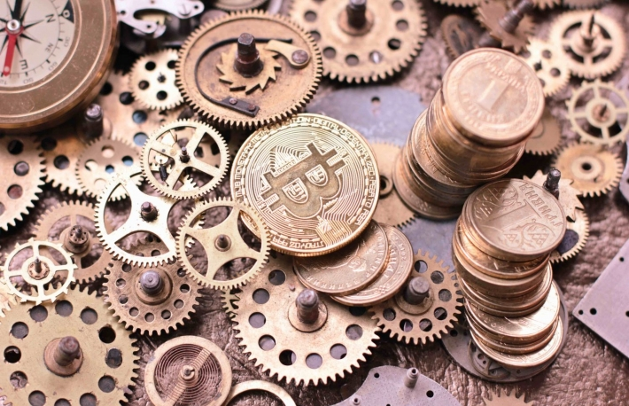 https://www.shutterstock.com/image-photo/gears-cogs-close-bitcoin-coin-693659071