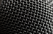 https://www.shutterstock.com/image-photo/steel-grille-background-closeup-shot-microphone-2965972