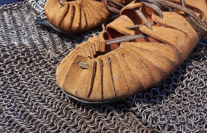 https://www.shutterstock.com/image-photo/roman-pieces-chain-mail-sandals-721155472