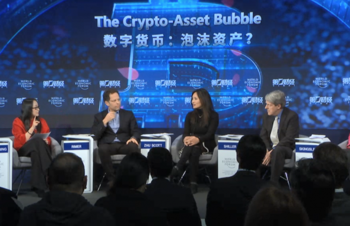 https://www.weforum.org/events/world-economic-forum-annual-meeting-2018/sessions/the-crypto-asset-bubble?stream=day-3-2018&tab=LiveBlogs#stream-header