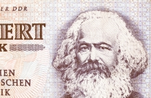 Karl Marx, east German banknote