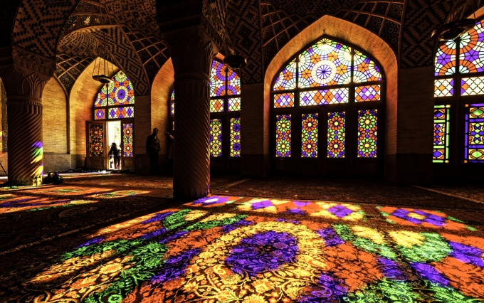 "<a href=""https://www.shutterstock.com/image-photo/nasir-ol-molk-mosque-traditional-shiraz-97446152?src=MTjC_-eqPfHmMuA7hyiQvA-1-40"">Stained glass image</a> via Shutterstock."