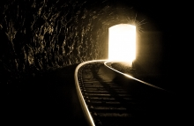 Light at end of tunnel; hope