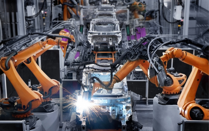manufacturing, factory, car, automobile, robot arm