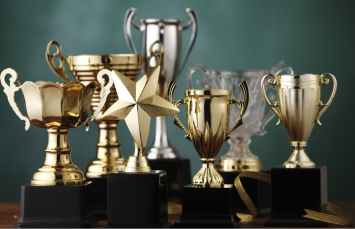 https://www.shutterstock.com/image-photo/group-trophies-on-green-background-248124937