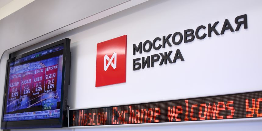 Moscow Exchange image via Shutterstock