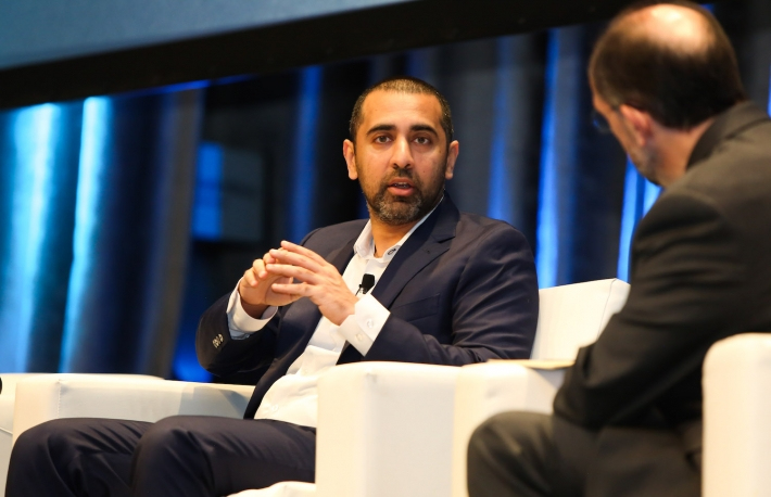 Balaji Srinivasan speaks at Consensus 2018, photo via CoinDesk archives