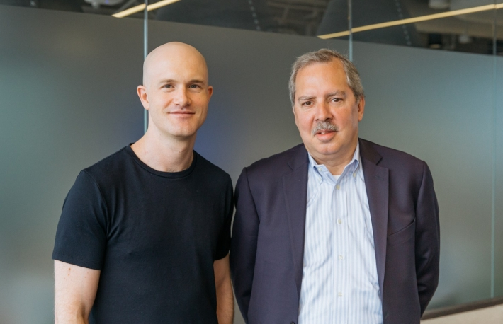 Brian Armstrong and Chris Dodds image courtesy Coinbase
