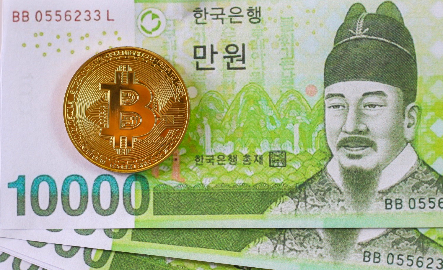 Korean won and bitcoin