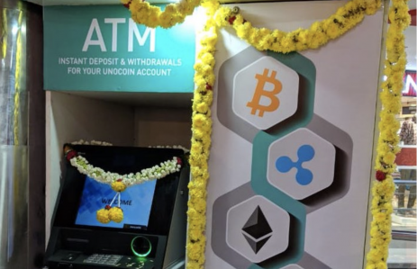 Unocoin ATM in Bangalore, India, October 2018, image courtesy of the company